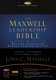 NKJV Maxwell Leadership Bible, Briefcase Edition, Coffee - Imperfectly Imprinted Bibles  -