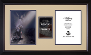 I Will Rescue, I Will Protect Soldier Photo Frame  -