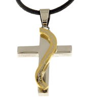 Cross with Gold Thorns Necklace  -