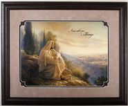 O Jerusalem, Image of Jesus, Framed   -              By: Greg Olsen
