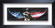 Soldier, Framed Art Greater Love...   -