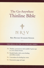NRSV Go-Anywhere Personal Size Thinline Bible, Bonded  Leather, Burgundy  -