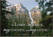 The Lord is My Rock Mountain Nature Magnet  -