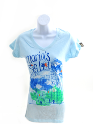 Maria's House Shirt, Blue, Junior Medium   -     By: MaryBeth Chapman