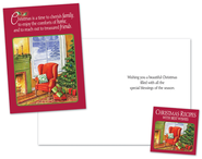 Family, Home, Friends Christmas Card with Cookbook, Package of 18  -