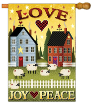 Love, Joy, Peace Flag, Large   -