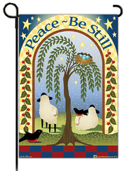 Peace - Be Still Flag, Small   -