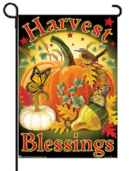 Harvest Blessings Flag, Small   -
