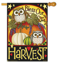 Bless Our Harvest Flag, Large  -