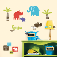 Jungle Animals Vinyl Wall Stickers  -