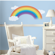 Rainbow Vinyl Wall Stickers Large  -