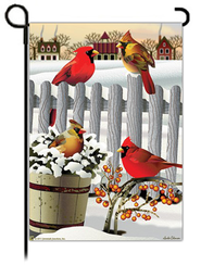 Winter Cardinals Flag, Small  -              By: FLAG