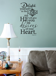 Vinyl Wall Expression, Delight Yourself in the Lord  -