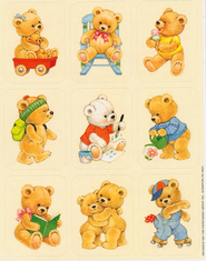 Scripture Press 4s & 5s Bear Stickers, Winter 2013   -