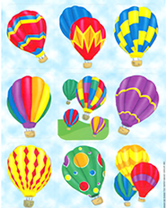 Scripture Press Hot Air Balloon Stickers, Winter 2013   -