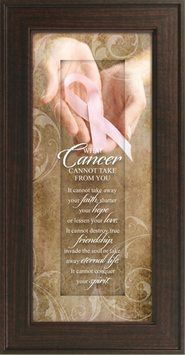 Pink Ribbon, What Cancer Cannot Take Framed Print  -