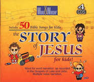 CEV Story of Jesus for Kid's on 4 CD's Including Songs   -