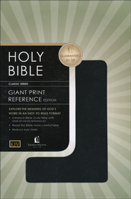 KJV Giant Print Reference Bible, Leatherflex, Black   -