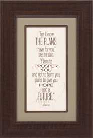 For I Know the Plans I Have for You Framed Print  -