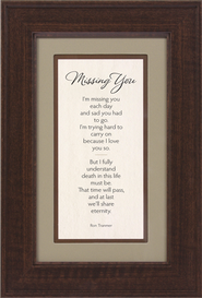 Missing You Framed Print  -     By: Ron Tranmer