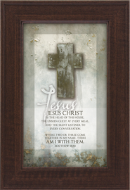 Jesus Christ is the Head of This House Framed Print  -