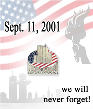 Never Forget September 11, 2001 Lapel Pin  -