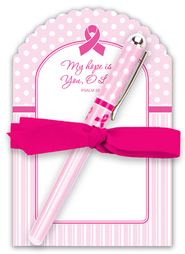 Pink Ribbon Notepad Gift Set  -