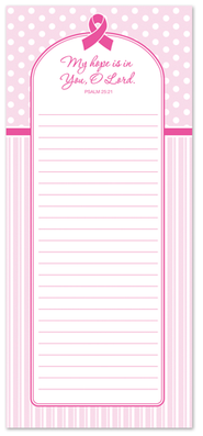Pink Ribbon Magnetic Notepad, Large  -