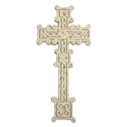 Braided Celtic Cross, White  -