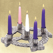 Celtic Advent Wreath, Pewter Finish   -