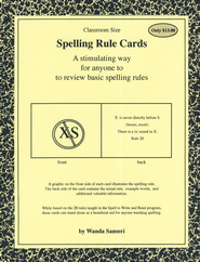 Spelling Rule Cards (Large)  -              By: Wanda Sanseri