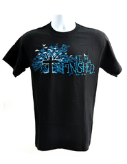 It is Finished Shirt, Black, Medium  -