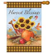 Harvest Blessings Art Flag, Large  -              By: Sandy Clough