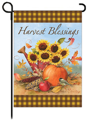 Harvest Blessings Art Flag, Small  -              By: Sandy Clough