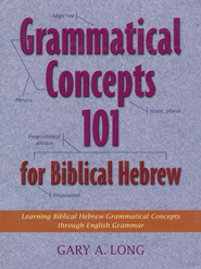 Grammatical Concepts 101 for Biblical Hebrew   -              By: Gary A. Long
