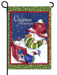 Christmas Blessings Art Flag, Small  -     By: Barb Tourtillote