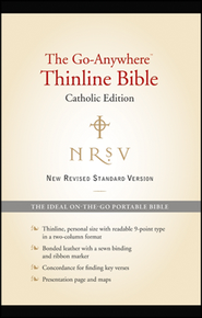NRSV Go-Anywhere Thinline Bible Catholic Edition Bonded Leather, Black  -