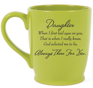 Daughter, Always There For You Mug, Green  -