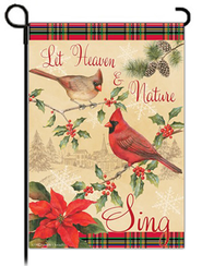 Let Heaven and Nature Sing Art Flag, Small  -     By: Sandy Clough