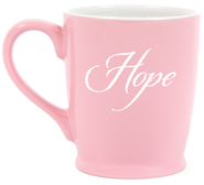 Hope, In the Quiet Moments Mug, Pink  -     By: Kris Decker
