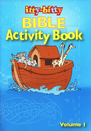 Itty-Bitty Bible Activity Book: Volume 1   -