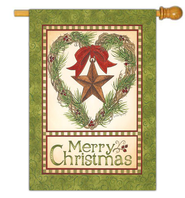 Merry Christmas Barn Star Flag, Large  -              By: Linda Spivey