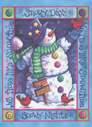 Snow Time Deluxe Box Christmas Cards, Box of 20  -