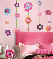 Flowers Vinyl Wall Stickers Large  -
