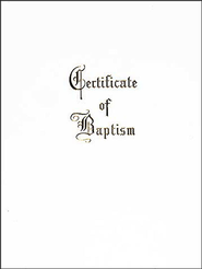 Traditional Steel-Engraved Child Baptism Certificate  -