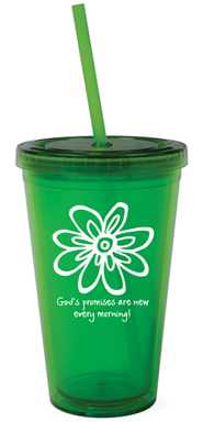 God's Promises are New Reusable Cup with Straw   -