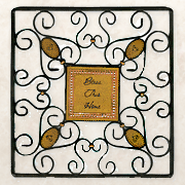 Bless This Home Square Wire Wall Hanging   -