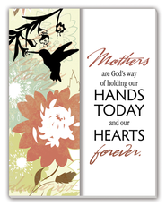 Mother's are God's Way Glass Plaque  -