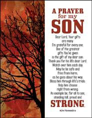 Prayer for My Son Glass Plaque  -