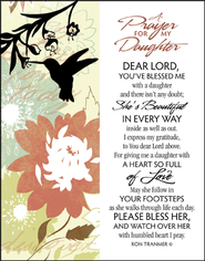 Prayer for My Daughter Glass Plaque  -